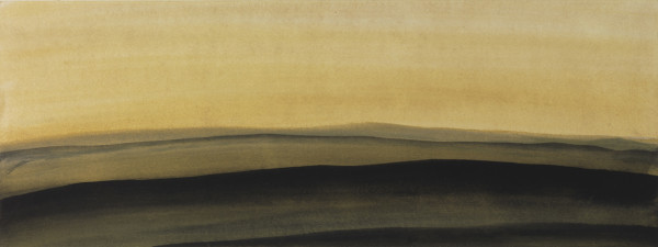 Landscape 19 2006-2010 watercolour and gouache on paper 14.9 x 39.7 cm (paper size) 43 x 68 cm (framed)